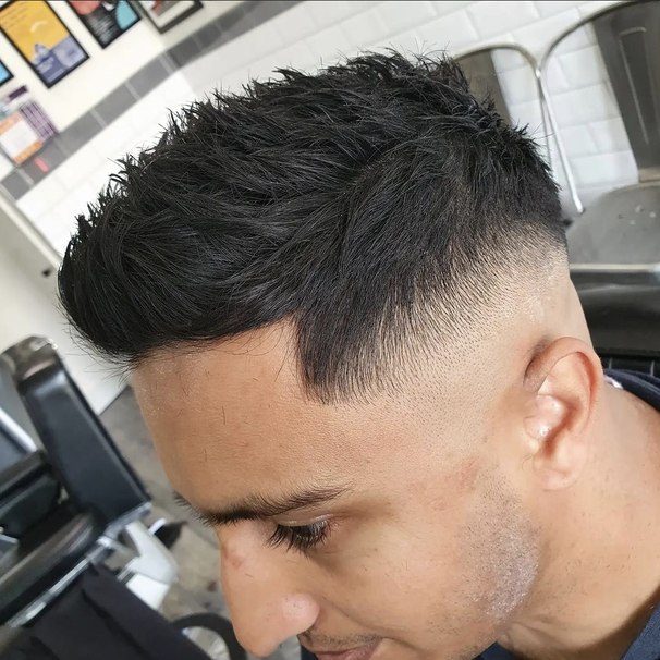 Skin Fade with Short, Spikey Top