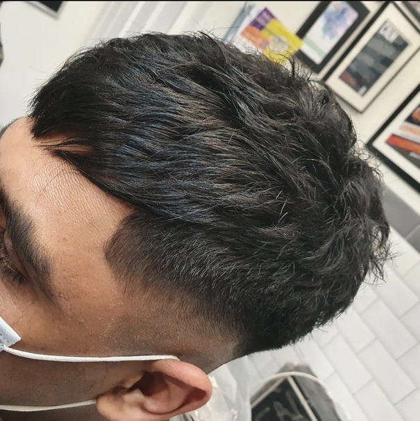 Zero Fade, with Textured Finish and Side Fringe
