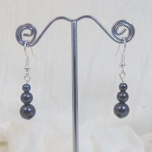 Ladies Handmade Hematite Earrings