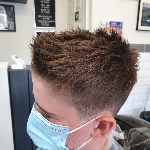 textured child haircut