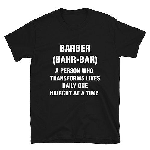 Barber (Bahr-bar) Short-Sleeve Black Unisex T-Shirt