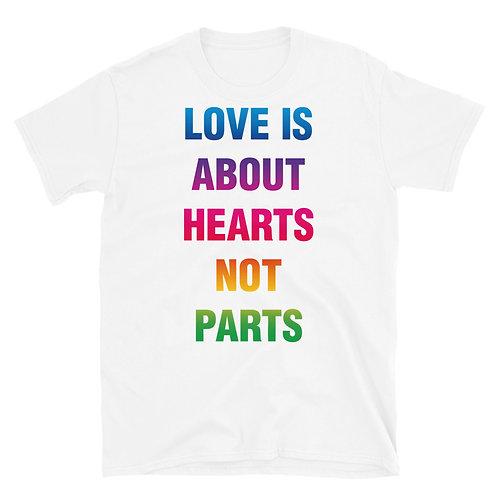 Heart Not Parts Short-Sleeve Unisex T-Shirt
