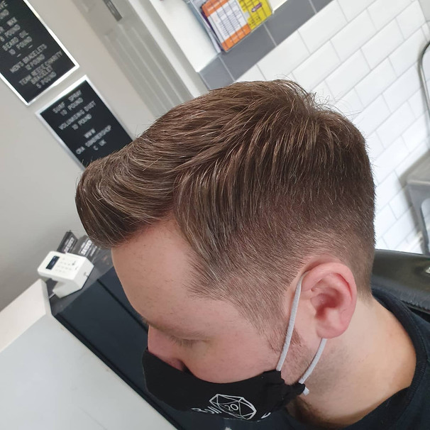 2 back and sides with quiff