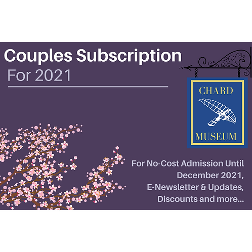 £15 Couple Subscription for 2021