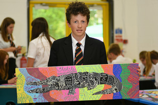 Artist Scott Walker in Holyrood Academy