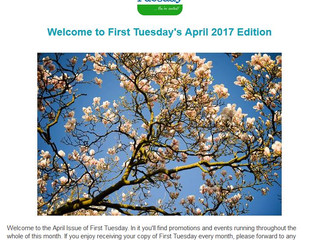 April's First Tuesday Newsletter