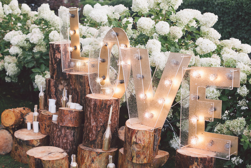 Decorated meadow for wedding ceremony..j