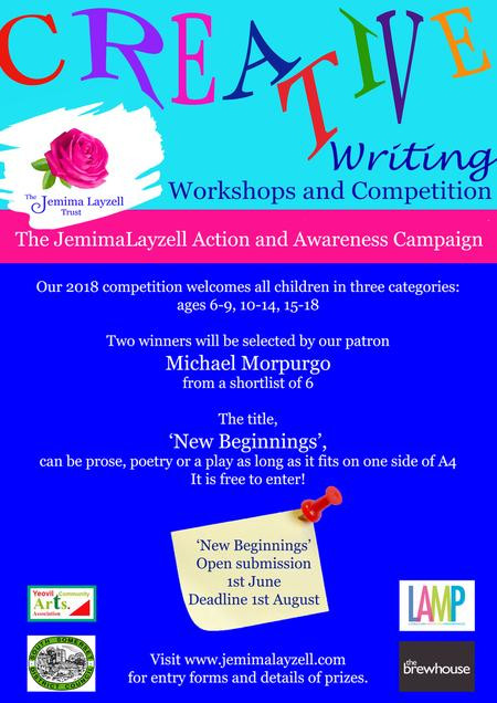 Jemima's Trust Writing Competition Opens Tomorrow!