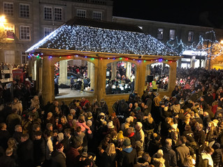 Ilminster Christmas Lights Switch On