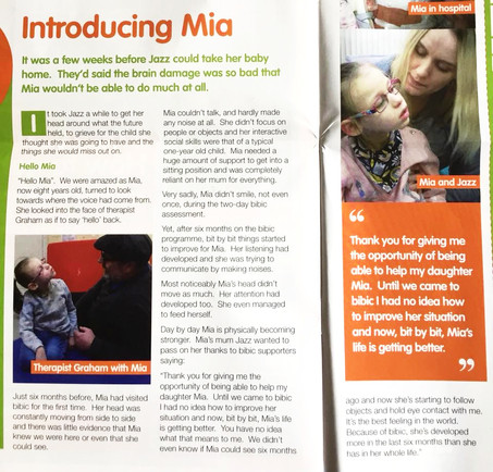 Mia's Story, BIBIC's Changing Lives
