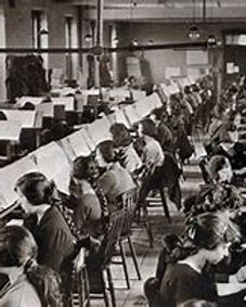 Edwardian office workers in Chard