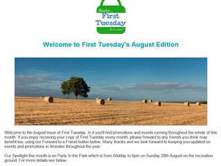 August's First Tuesday Newsletter