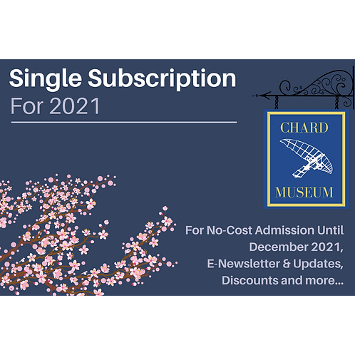 £10 Single Subscription for 2021