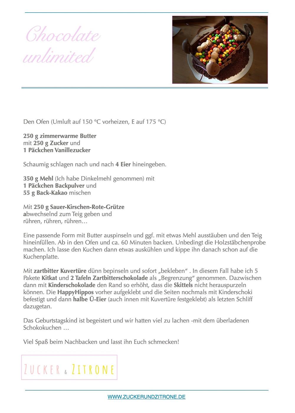 Das Rezept für den leckeren Schokoladenkuchen