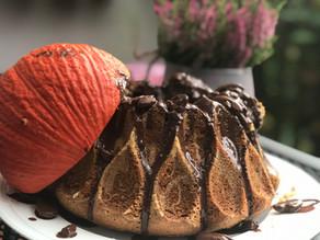 Kürbis-Schokoladen-Vulkan