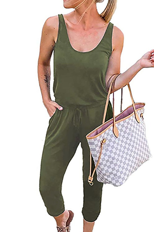 Money Moves Casual Sleeveless Jumpsuit
