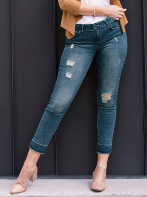 The Hangout Distressed Stretch Denim Jeans
