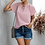 Thumbnail: Make Me Blush Solid Short Sleeve Casual Top