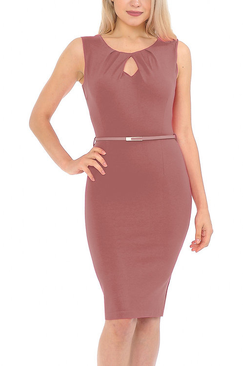 Michelle Sleeveless and Belted Bodycon Dress