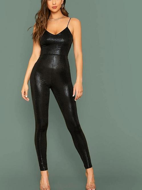 Natalia Spaghetti Strap Fitted Jumpsuit