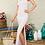 Thumbnail: Peak of Sexy Open Back Wrap Stripe Print Maxi Dress