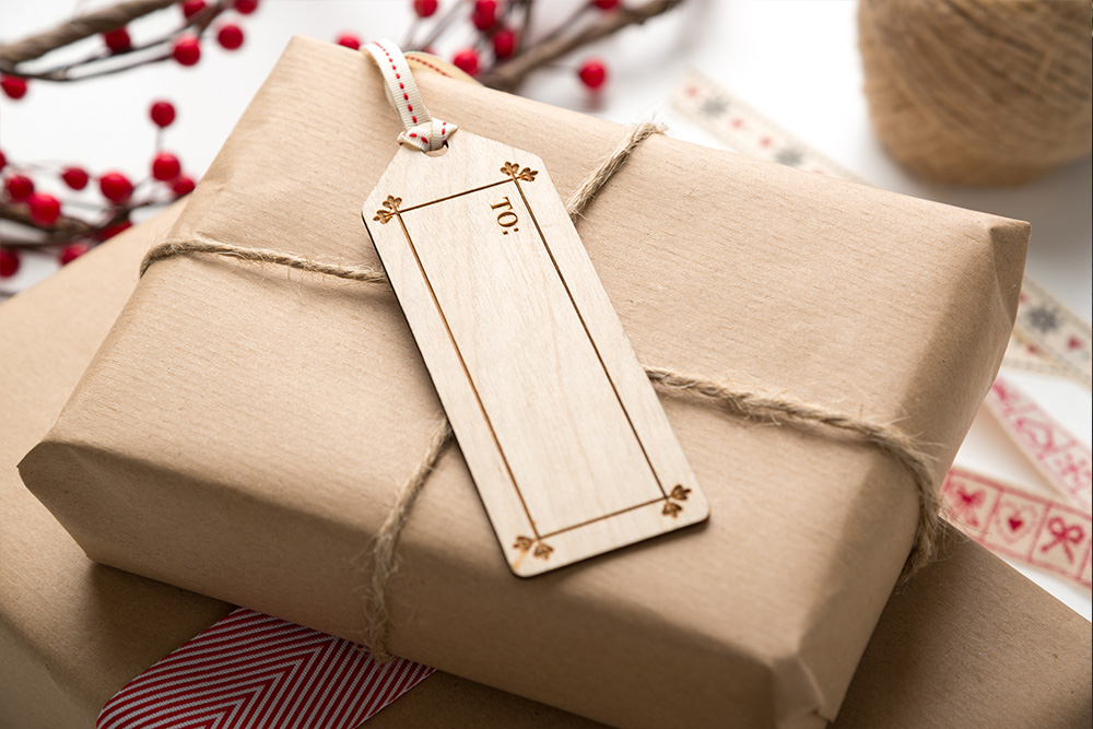 Luxury Wooden Gift Presentation Tags