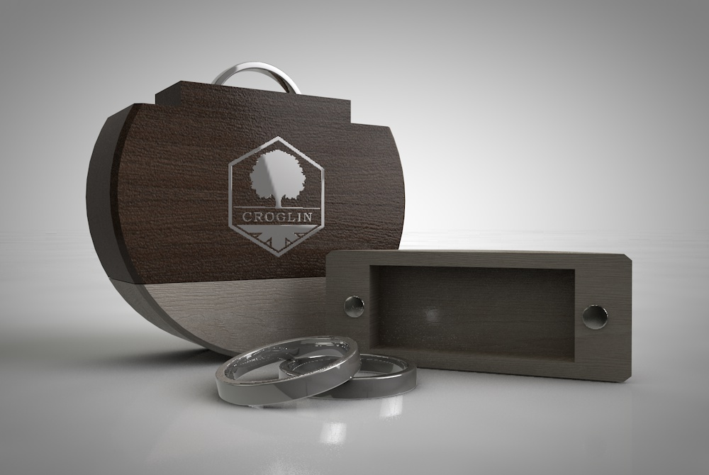 Croglin Luxury Wooden Ring Box