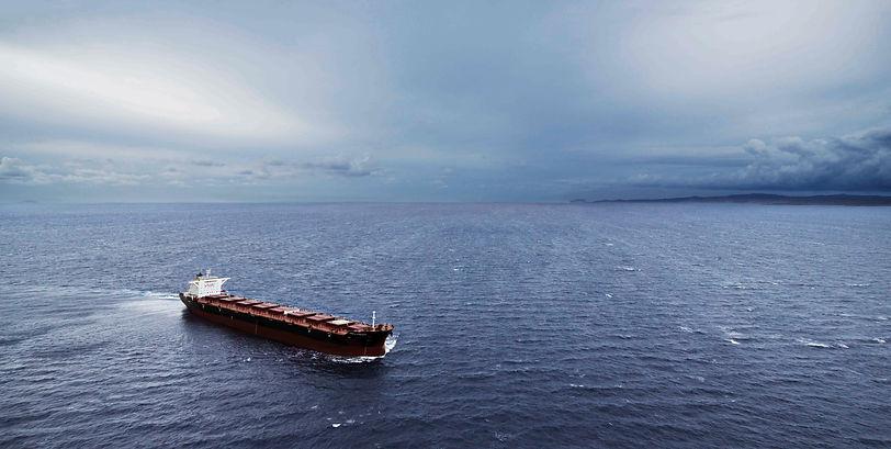 A Panamaxship at sea in the Aegean