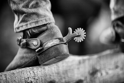 Cowboy boot and spur