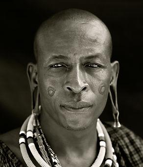 Man with earrings