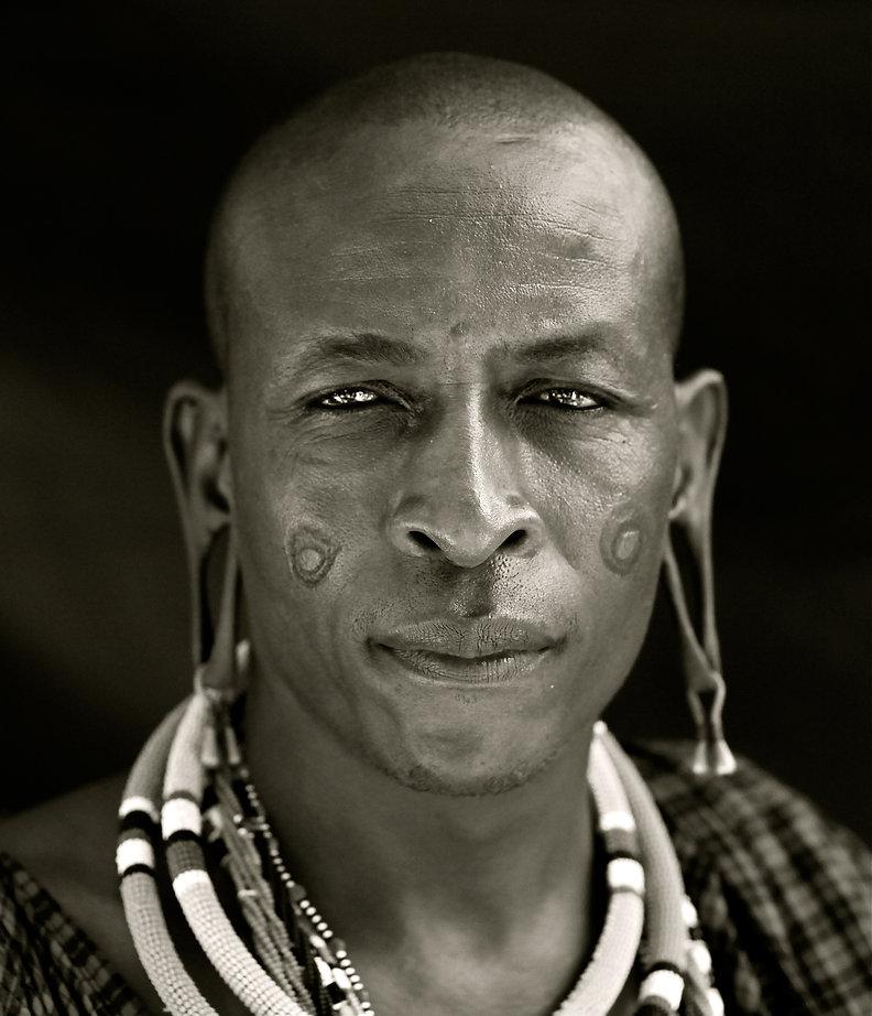 Head shot of a handsome Kenyan Maasai