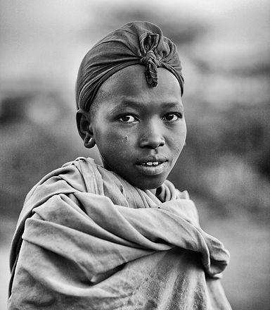 Shepherd boy in northern Kenya