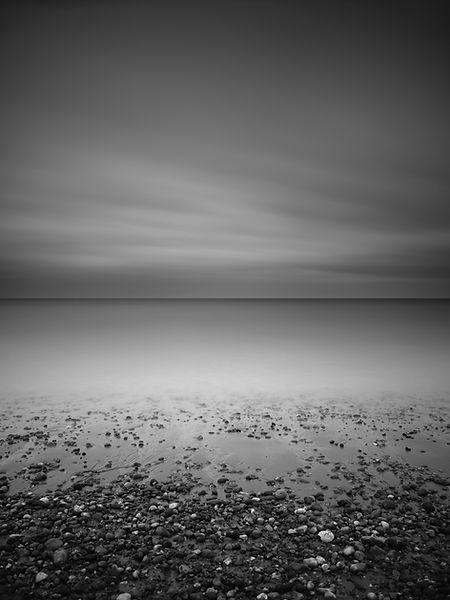 MOnochrome beach scene by Tim Barker