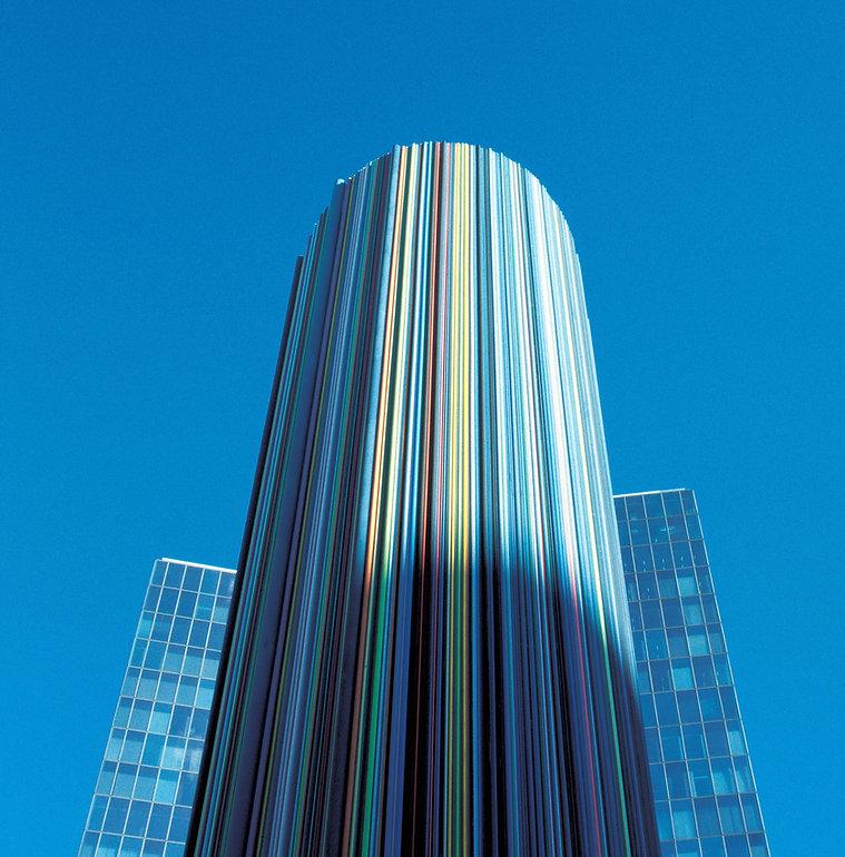 Paris ventilation tower at La Defense