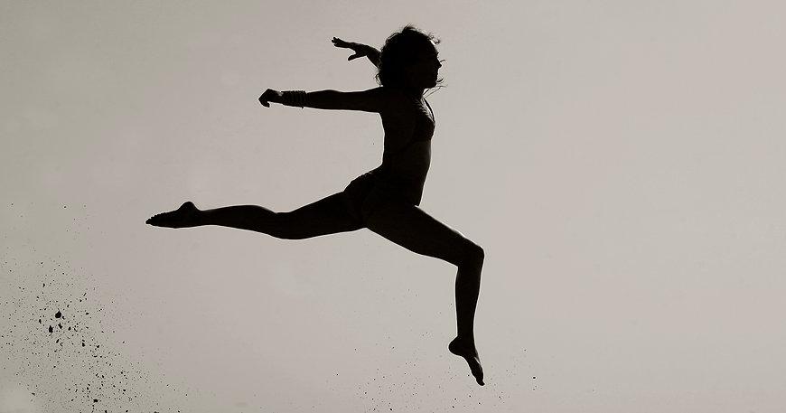 Athlete on Lamu island performing a jump