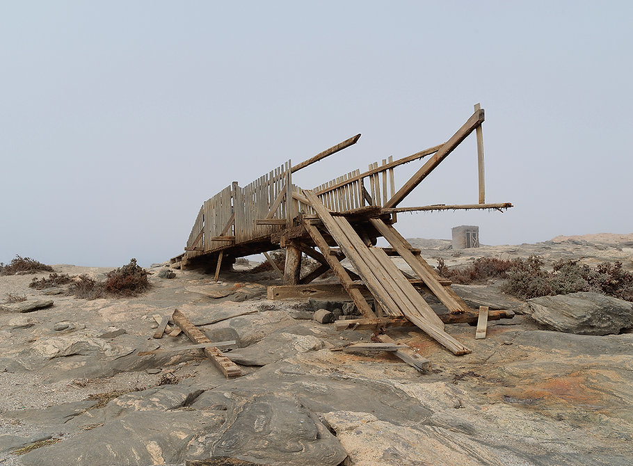 A broken bridge at Diaz Point, Namibia..jpg
