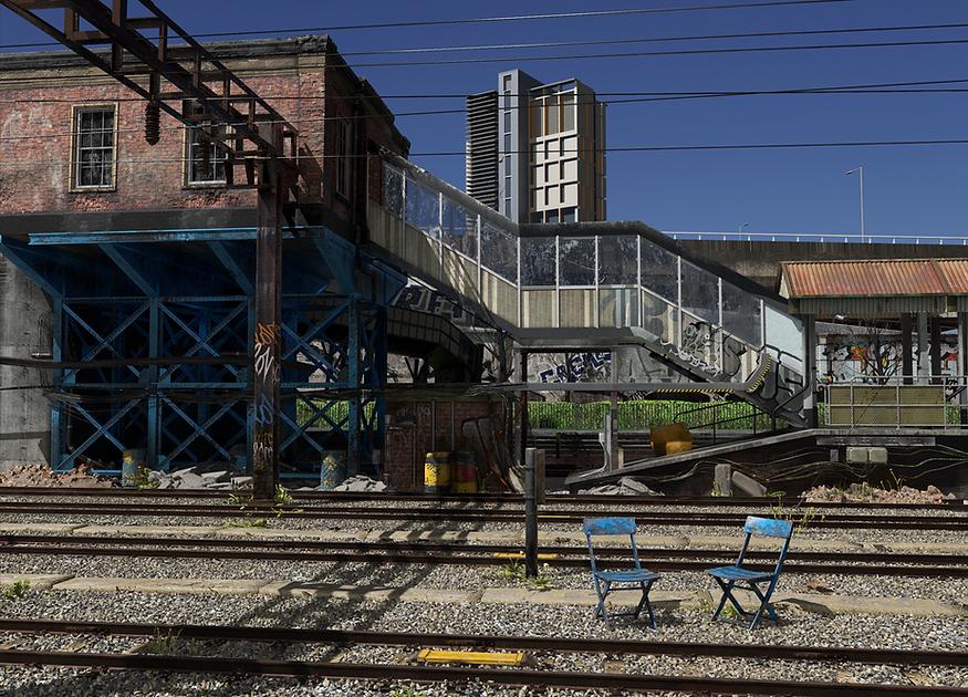 Train station siding - Slough, UK