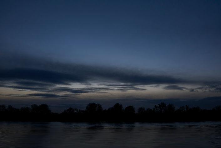River Thames at dusk, UK.
