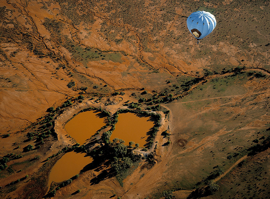 Water Hole and hot air baloon fromm above, New South Wales, Australia.jpg