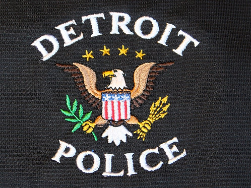 Detroit Police Eagle Embroidered Hoodie