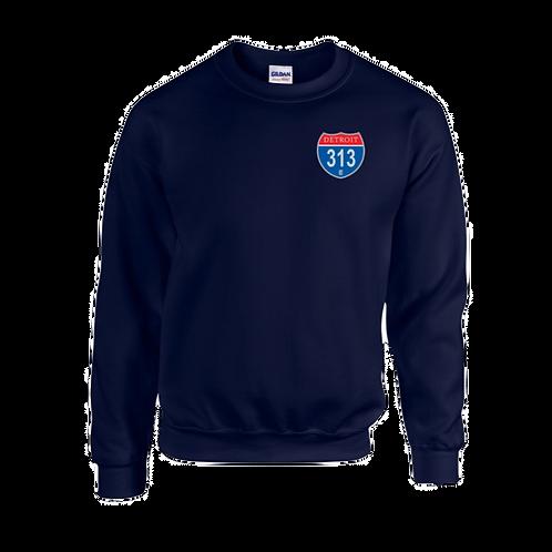 Detroit 313 Interstate (Left Chest) Sweatshirt