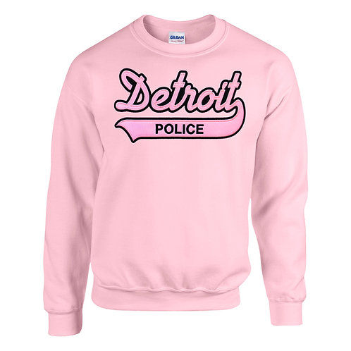 Property of Detroit Police Applique Pink Sweatshirt
