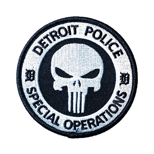 Detroit Police Special Operations The Punisher Patch