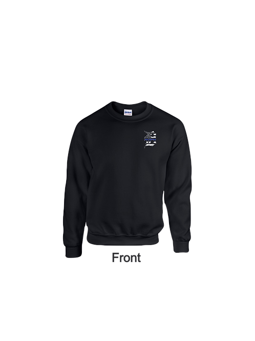 Detroit Police Blue Line Old English D and Flag Sweatshirt