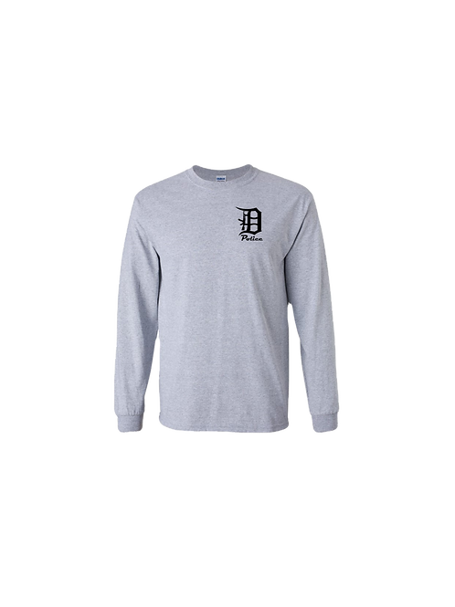 Detroit Police D Rifle (left chest) Long Sleeve Shirt