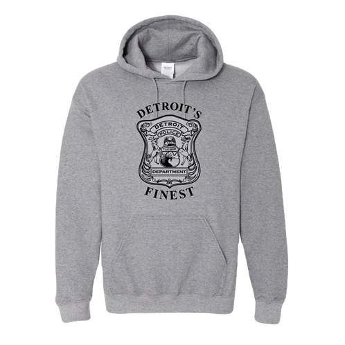 Detroit Police Finest (Old Style) Hoodie 18500