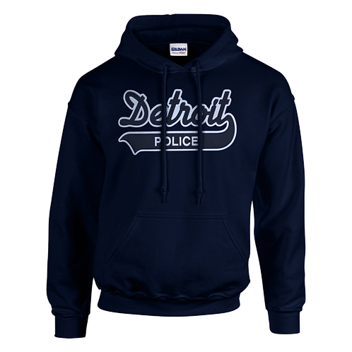Property of Detroit Police Applique Hoodie 18500