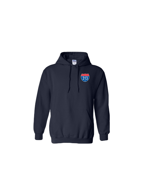Detroit 313 Interstate (Left Chest) Hoodie