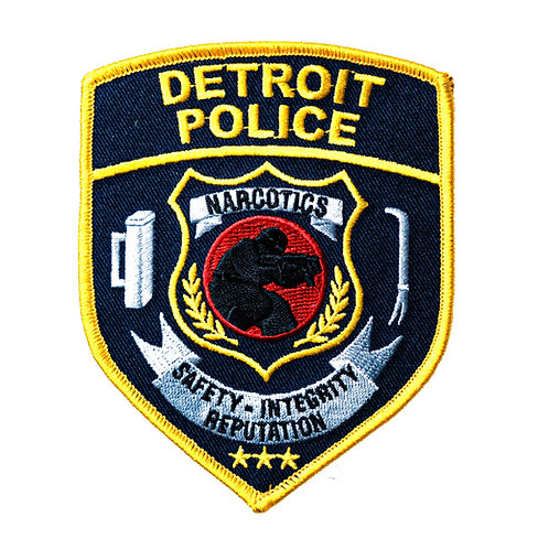 Detroit Police Narcotics New Style Collectors Patch