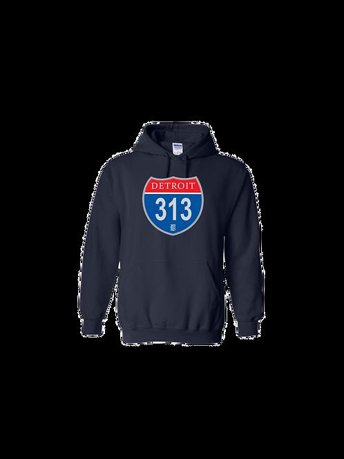 Detroit Police 313 Interstate Hoodie